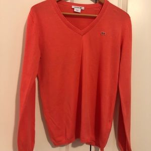 Coral Lacoste Sweater